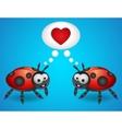 Cartoon ladybugs vector