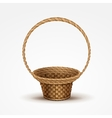 Empty wicker basket isolated vector