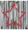 Grunge old wooden fence star frame vector