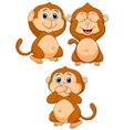 Three wise monkey cartoon vector