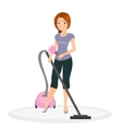 Woman doing housework vector