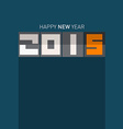 2015 - happy new year on blue background vector