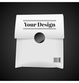 Paper bag package isolated on black vector