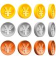 Yen coins vector