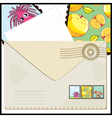 Mail with cartoon vector