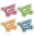 Shopping cart tags vector