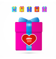 Present box gift box with heart vector