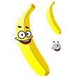Smiling ripe yellow tropical banana vector