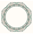 Ethnic round mandala ornamental frame abstract vector