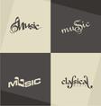 Music logo designs vector