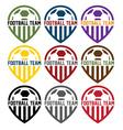 Football team labels set vector