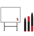 White board with markers vector