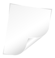 Blank sheet vector