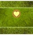 Vintage hearts valentines card vector