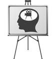 Cinema brain of a man vector