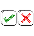 Two different buttons vector