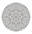 Round mandala kaleidoscopic lace ornamental vector