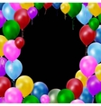 Multicolored balloons vector
