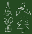 Sketch new year and christmas decoration vector