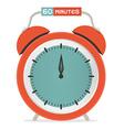 Sixty minutes stop watch - alarm clock vector