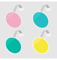 Set of round wobblers empty template flat design vector