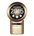 August calendar 2015 fiber background vector