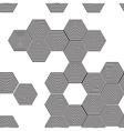 Volumetric 3d pyramid seamless pattern hexagon vector