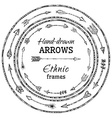 Round frames of ethnic arrows vector