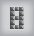 8 number eight alphabet geometric icon and sign vector