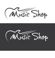 Music shop design template vector