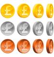 Pound coins vector