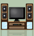 Tv table vector