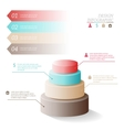 Business infographics five stages in the form of vector