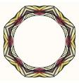 Ethnic round mandala ornamental frame abstract vector