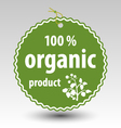 Green organic product stamp tag label vector