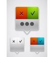 Modern dialog box icon vector