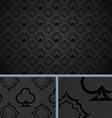 Black vintage poker clubs distressed background vector