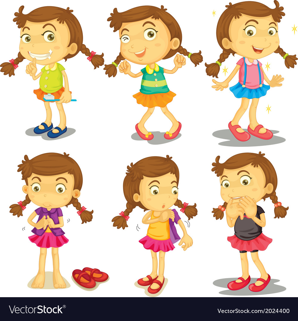 A young girl vector | Price: 3 Credit (USD $3)