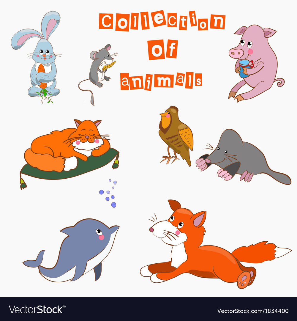 The collection of animals cartoo vector | Price: 1 Credit (USD $1)