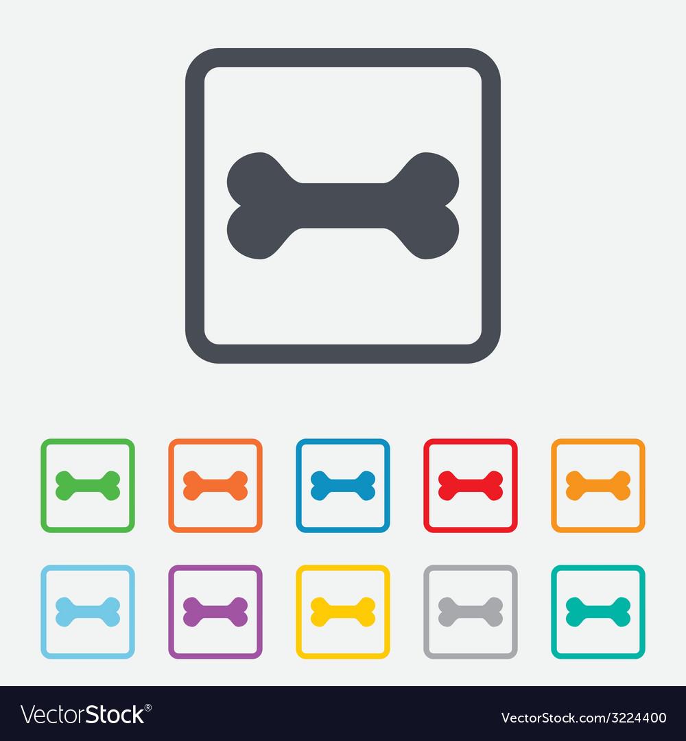 Dog bone sign icon pets food symbol vector | Price: 1 Credit (USD $1)