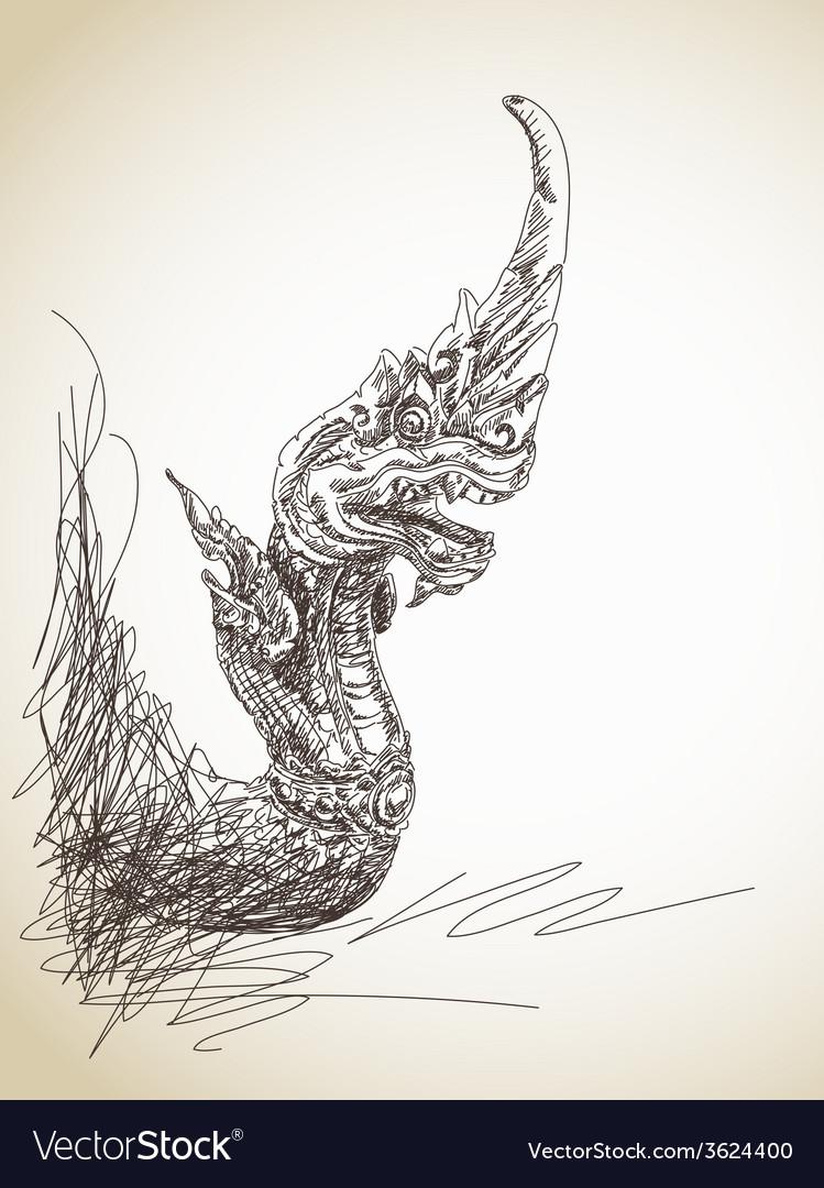Dragon statue vector | Price: 1 Credit (USD $1)