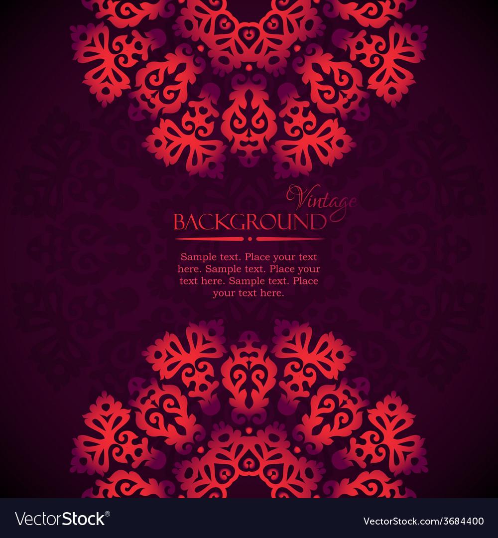 Elegant mandala indian invitation template vector | Price: 1 Credit (USD $1)