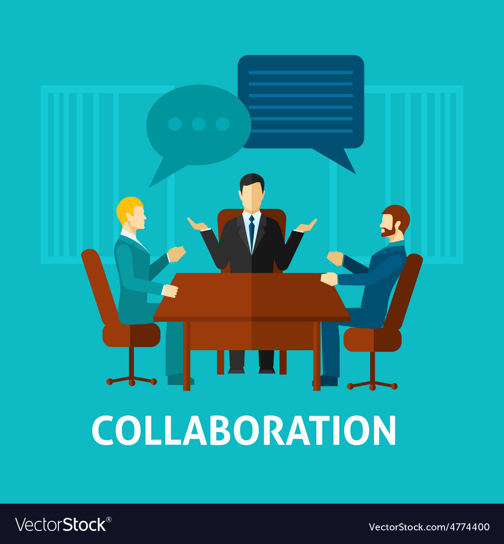 Flat collaboration icon vector | Price: 1 Credit (USD $1)