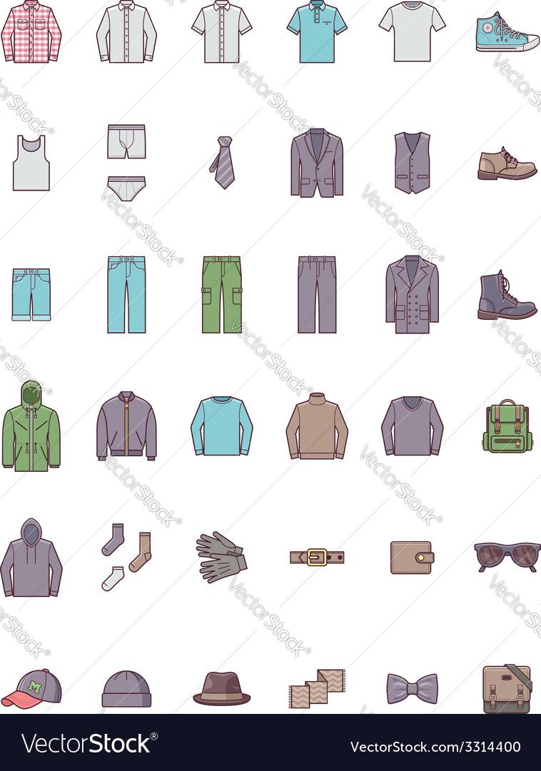 Men clothes set vector | Price: 1 Credit (USD $1)