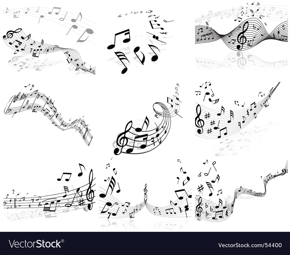 Musical note backgrounds vector