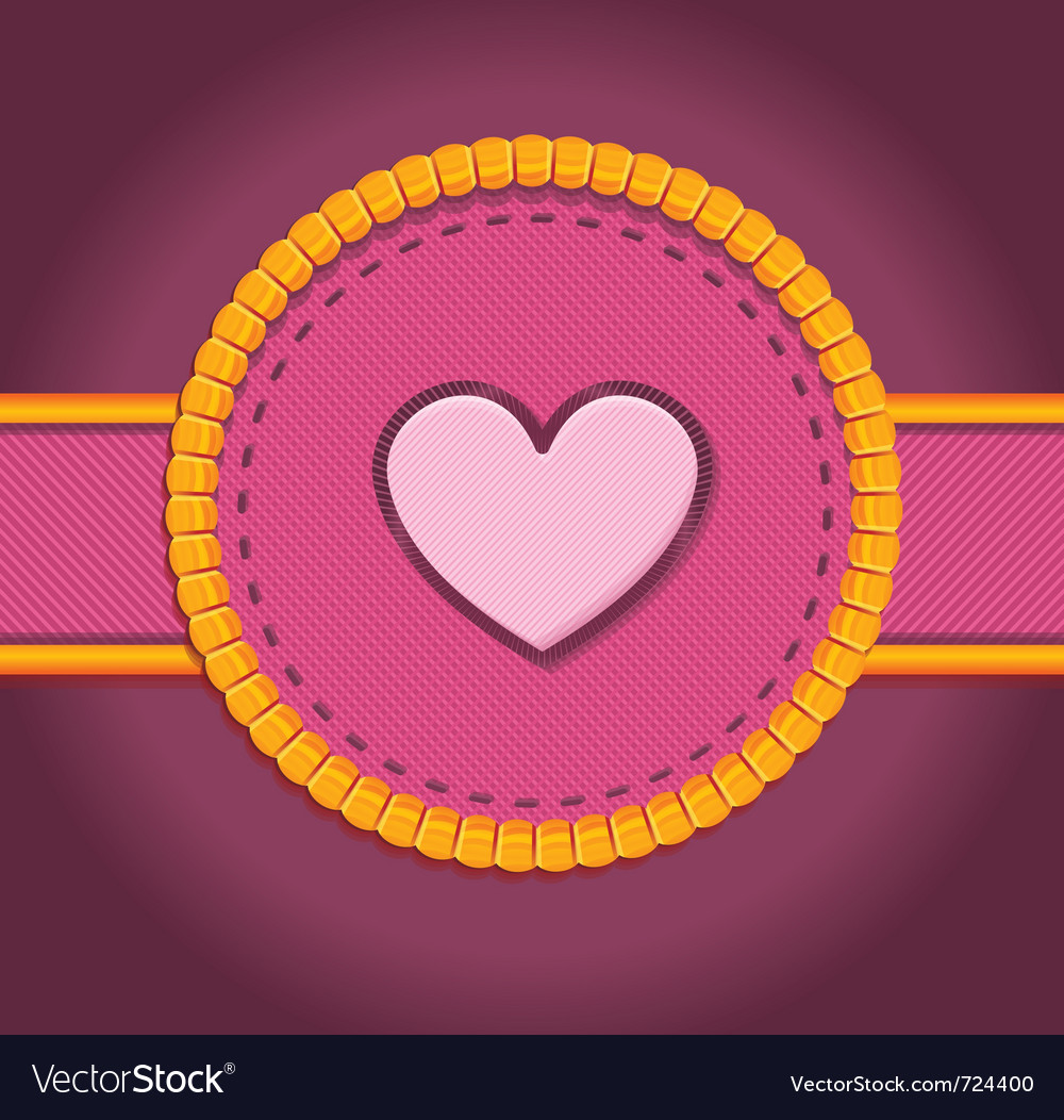 Round patch with heart - vector | Price: 1 Credit (USD $1)