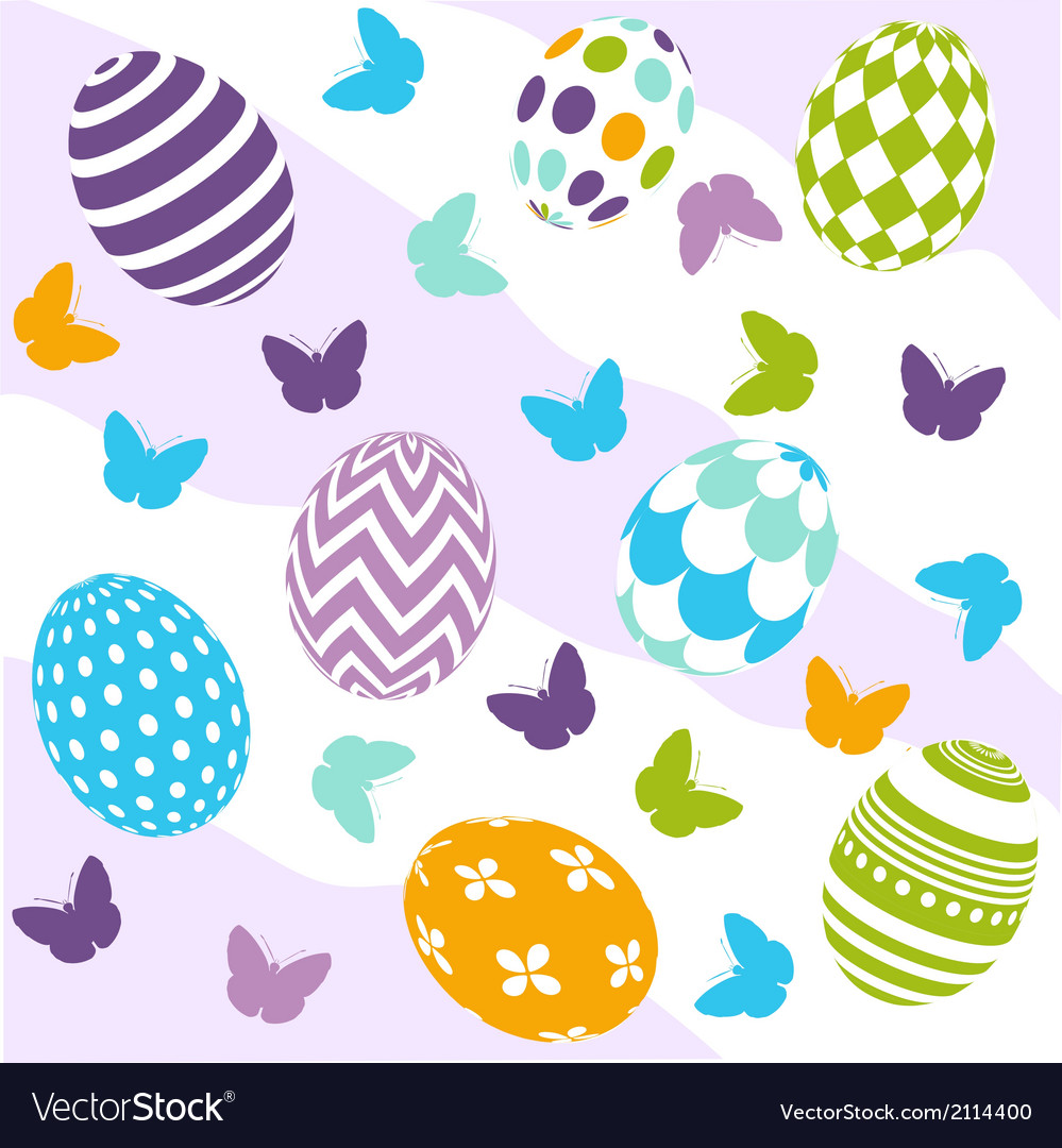 Seamless easter pattern vector | Price: 1 Credit (USD $1)