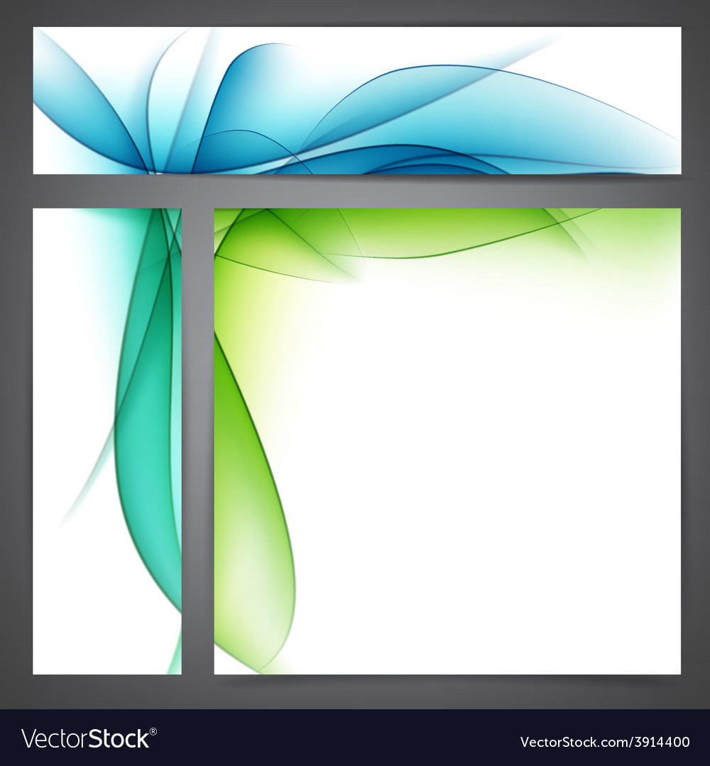 Set of abstract nature banners vector | Price: 1 Credit (USD $1)