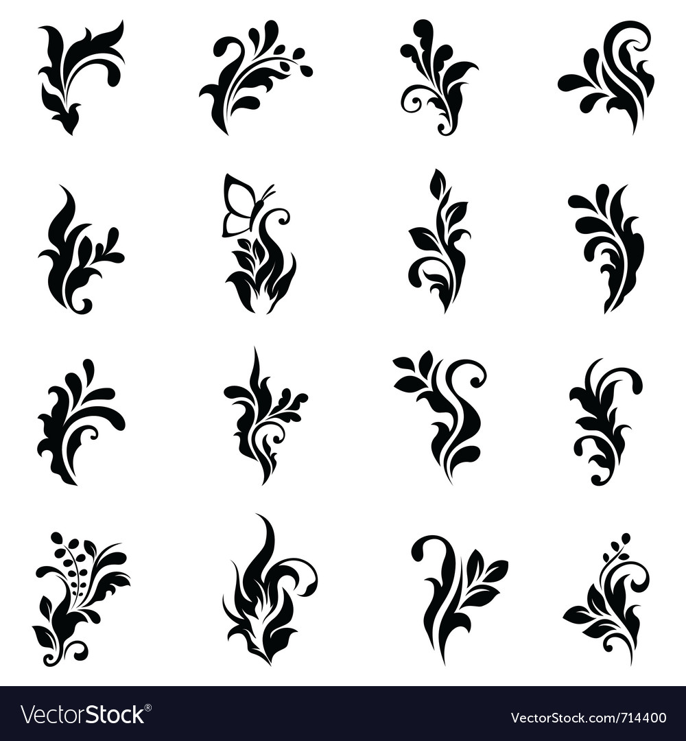 Swirly design elements 2 vector | Price: 1 Credit (USD $1)