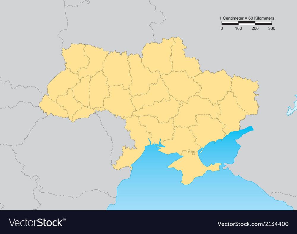 Ukraine map vector | Price: 1 Credit (USD $1)